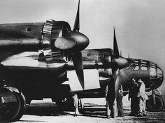 """A Messerschmitt Me-264, one of the proposed bombers for the """"Amerika Bomber"""" Program."""