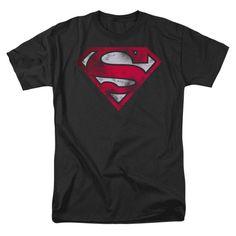 DC Comics Flash Gold Foil Logo Adults Black T-Shirt X-Large