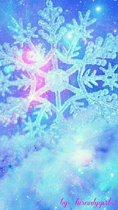 Snowflake galaxy wallpaper I created for the app CocoPPa