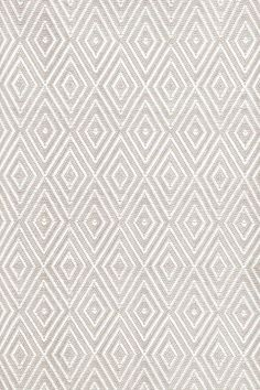RugStudio presents Dash And Albert Diamond Platinum/White Woven Area Rug