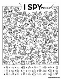 Use our free printable Pokémon I spy activity page to keep kids busy so you can get some quiet time. Kids Learning Activities, Preschool Activities, Teaching Resources, Activity Sheets For Kids, Niklas, Pokemon Birthday, Educational Websites, Educational Crafts, Hidden Pictures