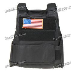 War Game Military Tactical Combat Vest - Black  Price: $30.90
