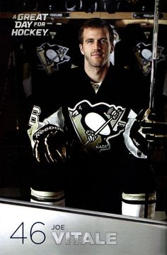 Joe Vitale, Pittsburgh Penguins.  One of my faves...most non-Pen fans don't even know who he is which is blasphemous.