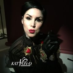 EXCLUSIVES! from the shoot with Kat von D today for Sephora! KTZ shoot by Lionel Deluy make-up by Erick Soto