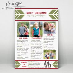 Year In Review Infographic Card Christmas Card Holiday Card New