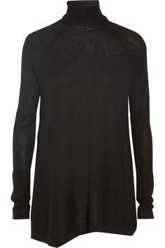 Donna Karan Asymmetric cashmere turtleneck sweater NET-A-PORTER.COM