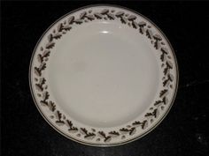 Scarce 18th C Wedgwood Creamware Plate Hand Painted Oak Leaves  Acorns 1800. One of my favourite creamware patterns.