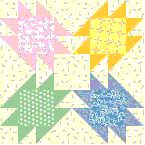 Baby Patch Four quilt square (9 fabrics) by McCall's