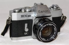 https://flic.kr/p/uDuzry | Vintage Cannon EXEE 35 mm SLR Film Camera, Made In Japan, Has A Permanently Mounted Half Lens, Circa 1969 - 1973