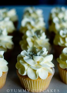 flower cupcakes maybe sprayed different colors