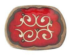 Pottery serving Platter, Ceramic fruit bowl, Pottery serving bowl, Pottery fruit plate, Decorative plate, Hand painted plate, centerpiece Q