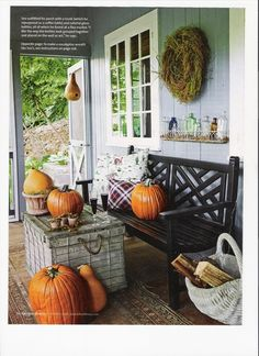 Fall at the Cottage House - Green Living Expert Danny Seo's eco-friendly and crafty ideas for everyday living.