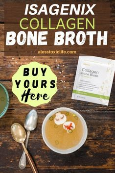 Buy Isagenix Collagen Bone Broth Here. Convenient low-carb, low fat, low-sugar, and great tasting powder. Isagenix 30 Day Cleanse, Bone Broth Powder, Bone Broth Benefits, Isagenix Shakes, Nutritional Cleansing, Bone Health, Health Diet, Protein Shake Recipes, Best Protein