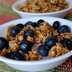 "European Muesli | ""The crunchy goodness of nuts, grains and seeds is baked together with honey. Try this as a quick snack, as a cereal, or stirred together with your favorite flavor of yogurt."""