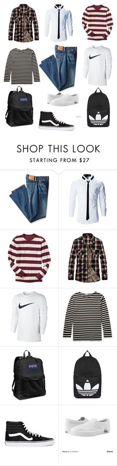 """""""Mix and Match jeans pants Man"""" by ghinaannisaa ❤ liked on Polyvore featuring Levi's, Gap, NIKE, Yves Saint Laurent, JanSport, Topshop, Vans, Zipz, men's fashion and menswear"""
