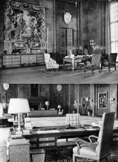 1939 Germany, Berlin, Office of Adolf Hitler at the Reich Chancellery