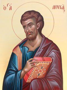 Luke the Evangelist Byzantine Art, Byzantine Icons, Luke The Evangelist, Paint Icon, Religious Images, Orthodox Icons, Patron Saints, Christianity, Religion