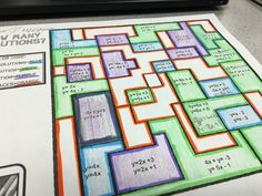 Students find how many solutions exist for a system of equations with this fun coloring activity. Check out all 9 ideas for finding how many solutions, including FREE sorting activity. High School Activities, Sorting Activities, Color Activities, Math Games, Summer Activities, Math Teacher, Math Classroom, Teaching Math, Teaching Technology