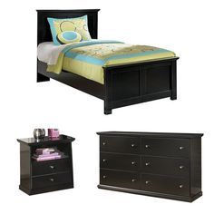Solid black finish. Casual cottage design accented with pewter color knobs for a more urban look. Scalloped top and base mouldings add dimensional flare to case perimeters. Side roller glides for smooth operating drawers.