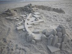 Using a variety of 3D geometric shapes such as prisms, pyramids, cylinders, spheres and cones; artist Calvin Seibert creates wonderful sand sculptures that are not quite 'castles' but much more than just randomly placed building blocks.  On Flickr, you can find an entire 66-picture gallery of Calvin's artwork which have all been washed away by the sea. Luckily for us, Calvin immortalized his pieces through photography so we can all enjoy his fantastic creations