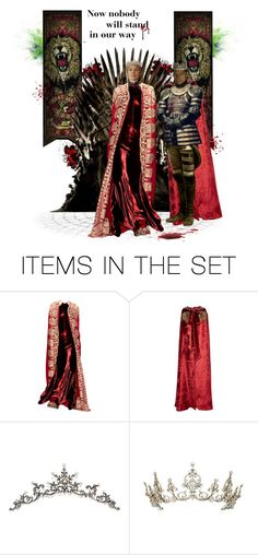 """""""""""Now nobody will stand in our way"""" - Cersei and Jaime Lannister"""" by greerflower ❤ liked on Polyvore featuring art"""