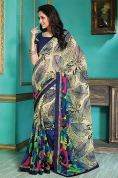 Lovely Casual Printed Georgette Saree