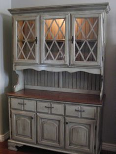European Paint Finishes: Country Cottage Hutch