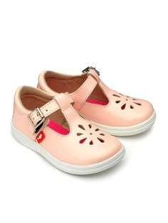 Chipmunks Girls Trixie leather shoes, Pink