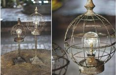 Our beautifully rustic and industrial chic wire globes are LED Lanterns that last forever! Use this globe lanterns to brighten up and at that final touch to any space! For more visit Decor Steals Farmhouse Chandelier, Farmhouse Decor, Farmhouse Style, Antique Farmhouse, Rustic Decor, Led Lantern, Lanterns, Shabby Chic, Magnolia Wreath