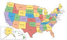 Bundesstaaten der USA mit Hauptstädten