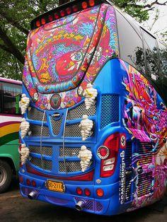 Ayutthaya, Thailand - Tourist Omnibus