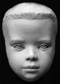 Child Human Face Aging Process Sculpting Reference