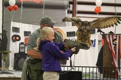 Chloe Baumgarten, an elementary student from South Beauregard, got the chance of a lifetime when Metayer allowed her to hold Baby Girl, the Eurasian Eagle Owl.