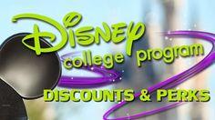 Disney College Program Discounts and Perks