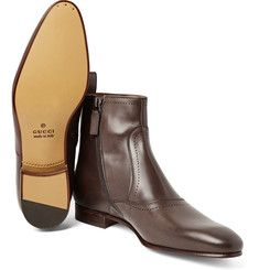 Every man deserves a pair of good boots on his shoe rack. From leather biker boots to suede Chelsea boots, browse designer men's footwear at MR PORTER. Mens Designer Boots, Designer Shoes, Leather Chelsea Boots, Leather Boots, Fashion Boots, Mens Fashion, Italian Shoes, Shoe Pattern, Biker Boots