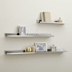 "Wall by kitchen with magnet boards Width: 24"" Depth: 4.5"" Height: 2.25""  Create a more organized space with wall storage from Crate and Barrel. Browse stylish wall mounted shelves, coat racks, ledges and more. Order online."