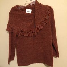 Beautiful Cowl Fringed Sweater Cowl Fringe Sweater. Size small. Fabric acrylic poly and wool. Tags still attached . Brand: Marisa Christina Marisa Christina Sweaters Cowl & Turtlenecks