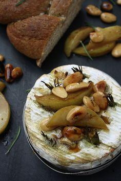 Baked Camembert & Honey Glazed Pears