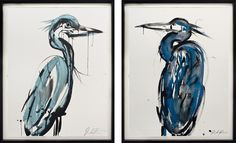 Jenna Snyder-Phillips  Sumi Ink painting krane
