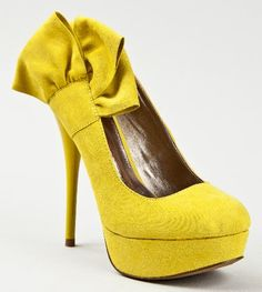 """http://fbfanpages.us/pinnable-post/qupid-neutral-212-bow-tie-slip-on-stiletto-high-heel-platform-pump/ Charming stilettos by Qupid have an oversize bow, raised platform sole, and almond-shaped toe.Bright fluoro is always funâ?""""heels come in buttery vegan-friendly suede."""