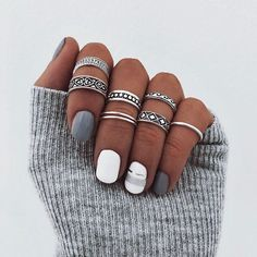 popular winter nails colors to look excellent this season 44 ~ my. popular winter nails colors to lo. Really Cute Nails, Love Nails, Pretty Nails, Cute Acrylic Nails, Cute Nail Art, Gel Nails, Winter Acrylic Nails, Winter Nail Art, Winter Nails