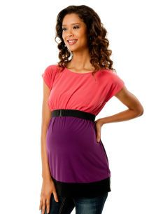 Short Sleeve Boat Neck Babydoll Maternity Tunic  Product #: 91379  Motherhood Maternity $24.99