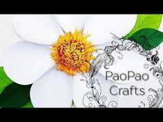 (5) 🌸FLOR GIGANTE DE PAPEL | MANUALIDADES DE PAPEL | MOLDES GRATIS | FIORE DI CARTA | GIANT PAPER FLOWER - YouTube