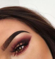 plum smokey eye