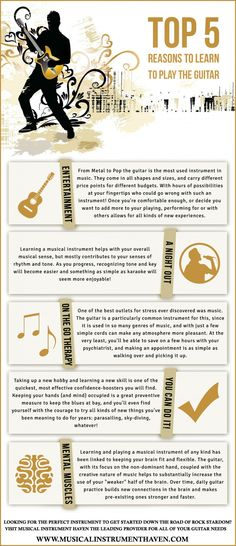 Top 5 Reasons To Learn To Play The Guitar -shared by Musicalinstrume... | published Feb 18, 2014