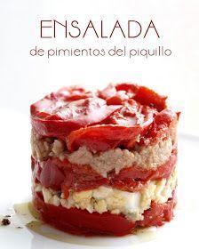 Bocados dulces y salados: ENSALADA DE PIMIENTOS DEL PIQUILLO
