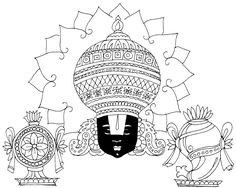 Tamil Cliparts: Venkatachalapathi Line Drawings for invitations Mandala Art Lesson, Lord Balaji, Lord Shiva Hd Wallpaper, Tanjore Painting, God Pictures, Gods And Goddesses, Paint Designs, Line Drawing, Art Lessons