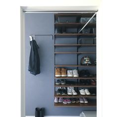 Entry Foyer, New Room, Shoe Rack, My House, Interior Design, Closet, Furniture, Entrance, Home Decor