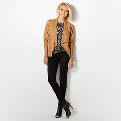 G by Giuliana Draped Cardigan with Ultra Luxe Sleeves looks better in the black version of course!!