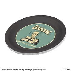 Christmas: Check Out My Package Paper Plate